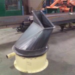 Custom metal chute joint