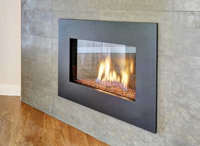 Steel Fireplace Surround